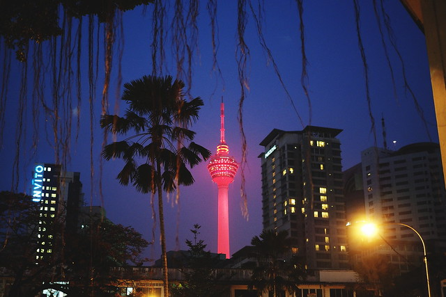 KL Tower in red