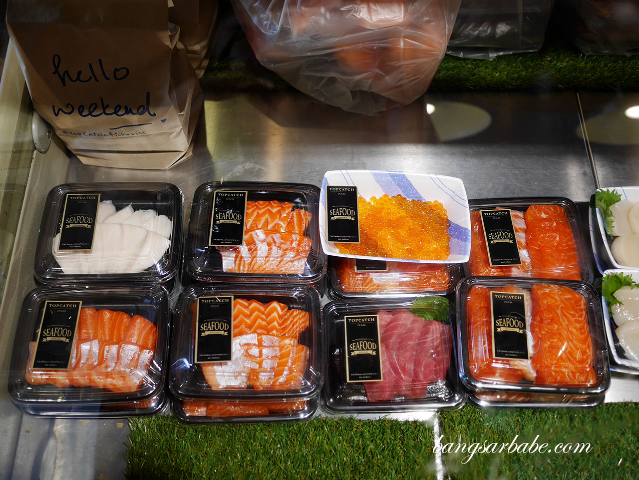 Assorted sashimi on display (2)