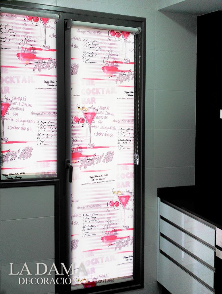 Fotograf as de cortinas de cocina - Estores para puertas de cocina ...