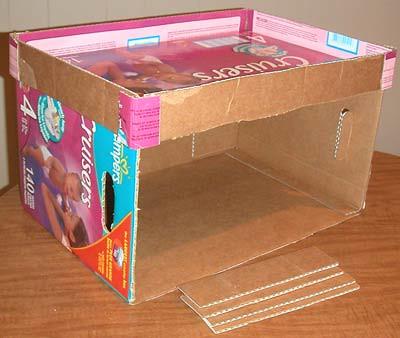 How to: No Sew Fleece Cube / Box Shelf 26300881475_5061f5888e