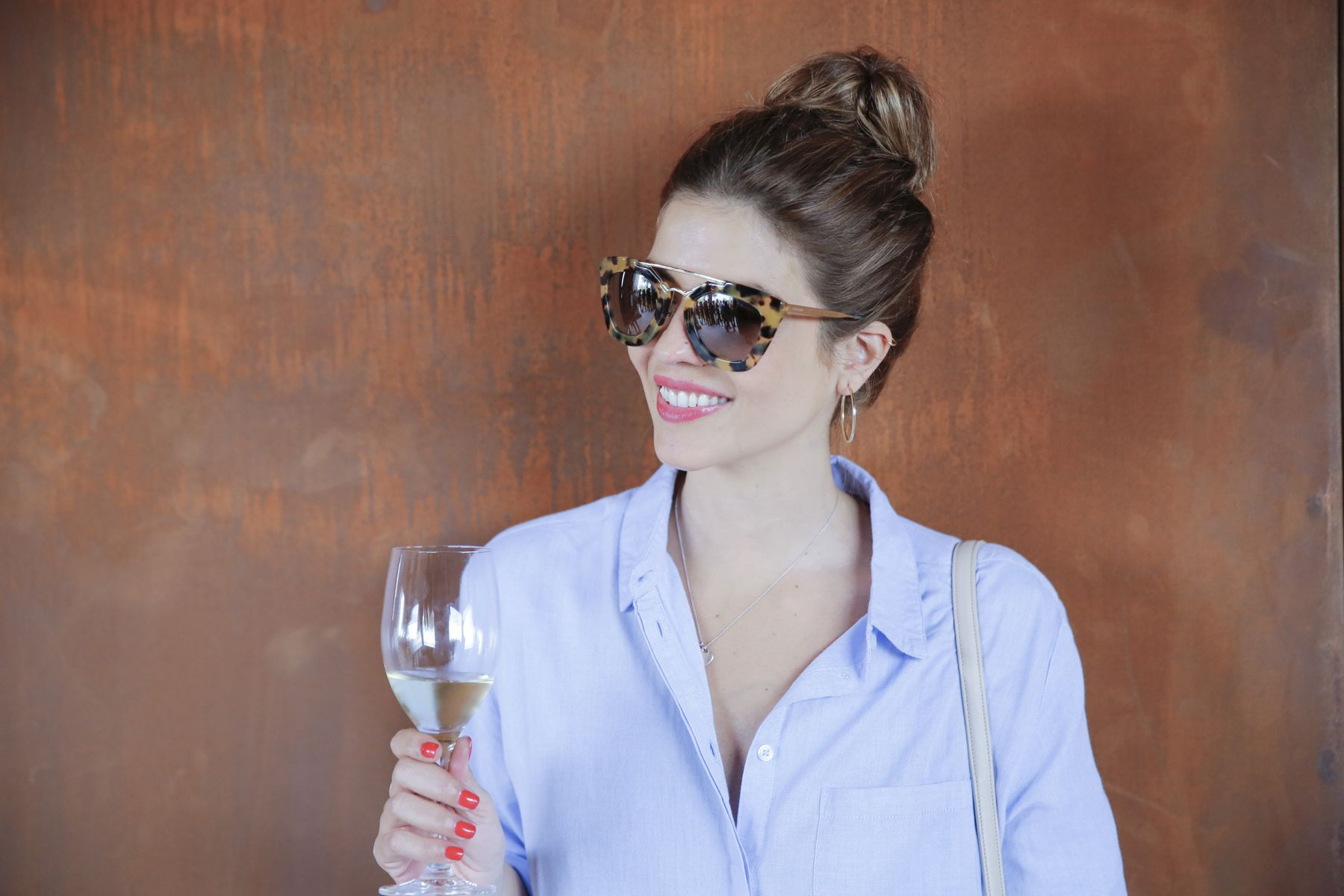 outfit look primavera spring camisa oxford zara calzedonia Yves saint laurent bolso bag prada sunglasses verona street style trendy taste_18