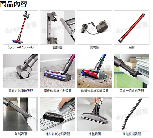 Dyson V6 Absolute 主要吸頭配件