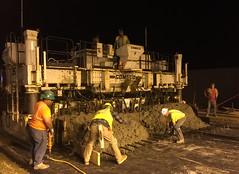 April 9, 2016 - Overnight concrete paving
