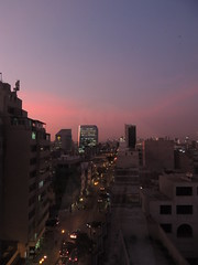 Sunset in Lima, Peru