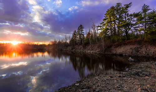 trees sunset lake canada water reflections landscape evening colours dusk lakeside atlantic newbrunswick waterscape
