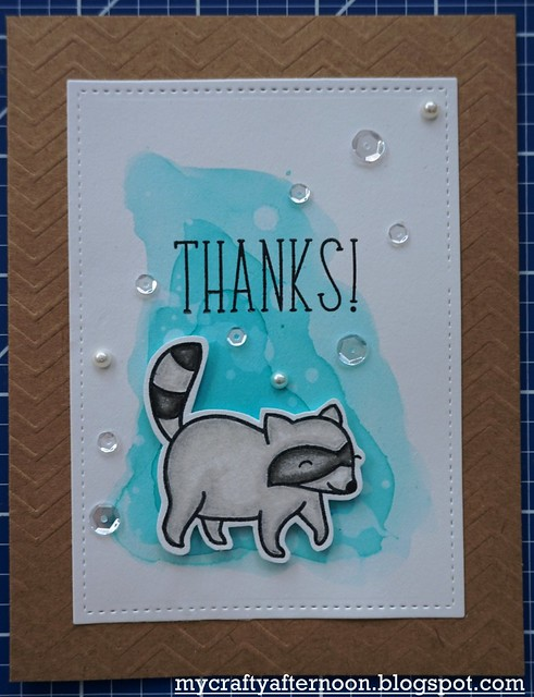 Thank You Card Series Raccoon