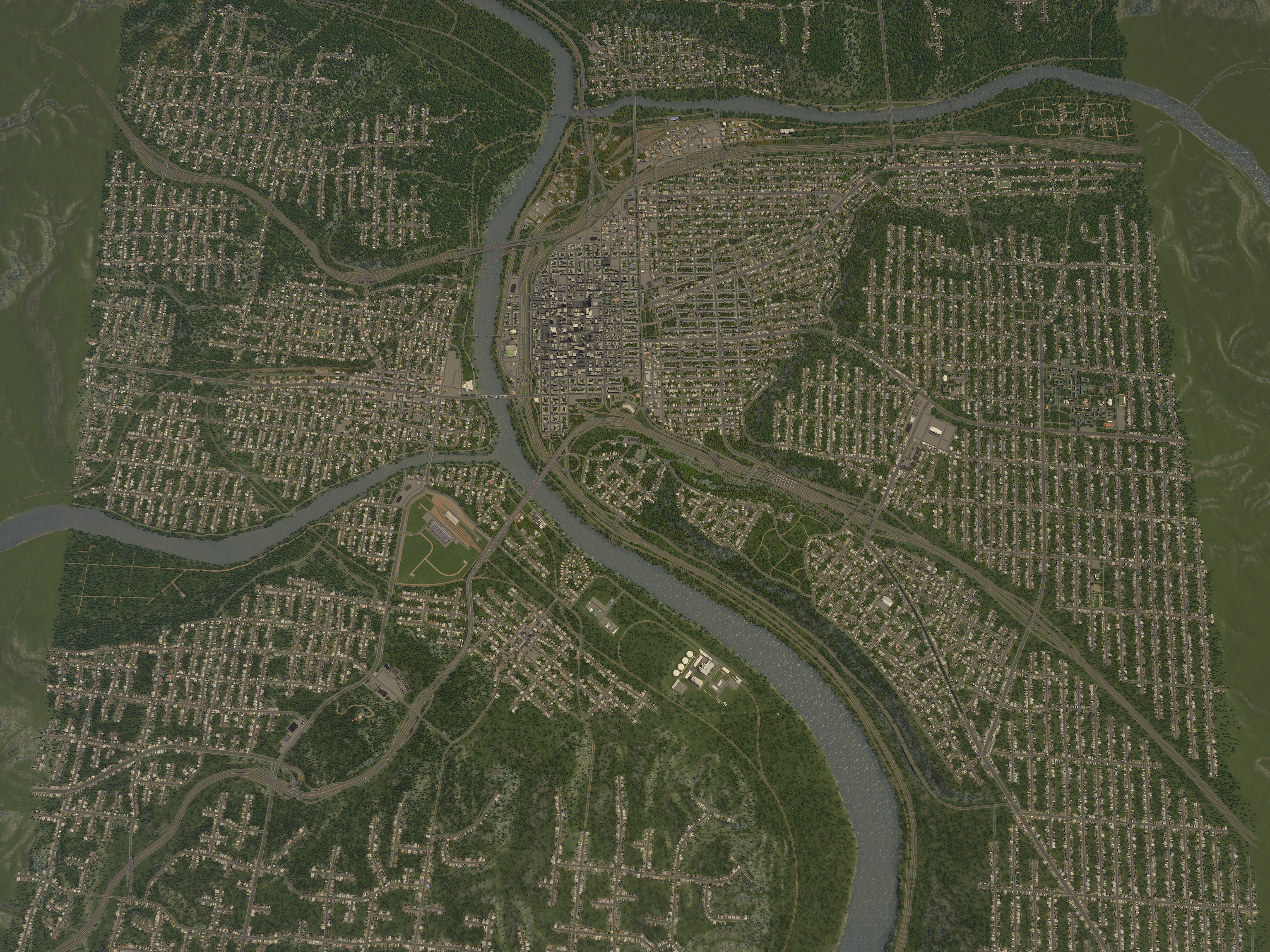 This is a full 25 tile map in Cities Skylines : gaming