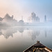 Taj Mahal at Sunrise: A Surprise Boat Ride on the Yamuna River by RBudhu