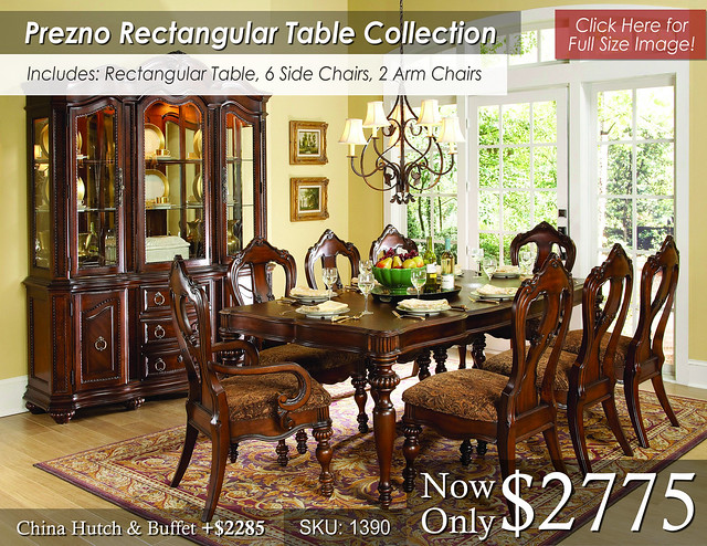 Prezno Rectangular Dining Set Priced