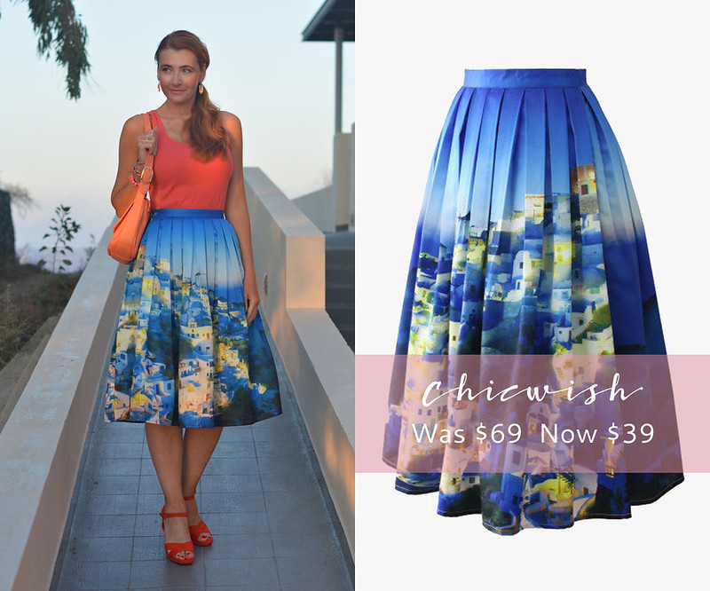 January 2016 Sales | Chicwish Santorini print midi skirt