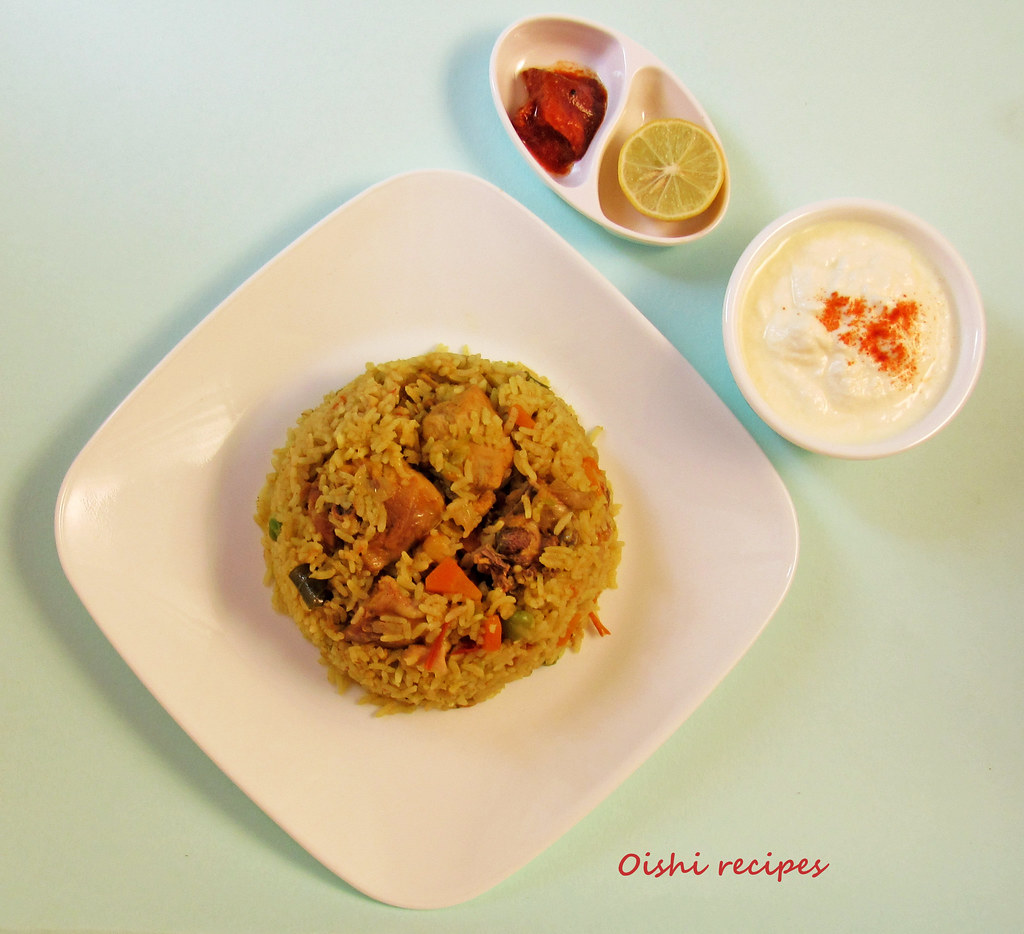 Easy Pressure cooker chicken biriyani 5