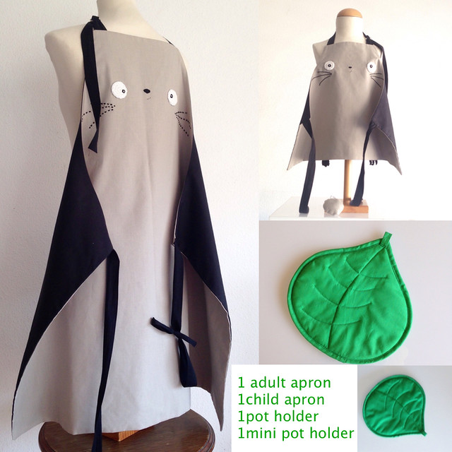 mommy and me totoro aprons