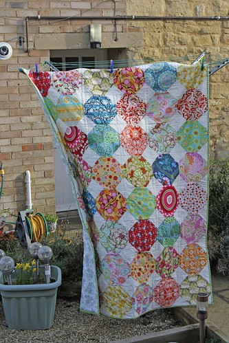 Country Garden Snowball Quilt
