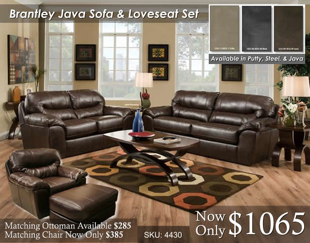 Brantley Java Living Set