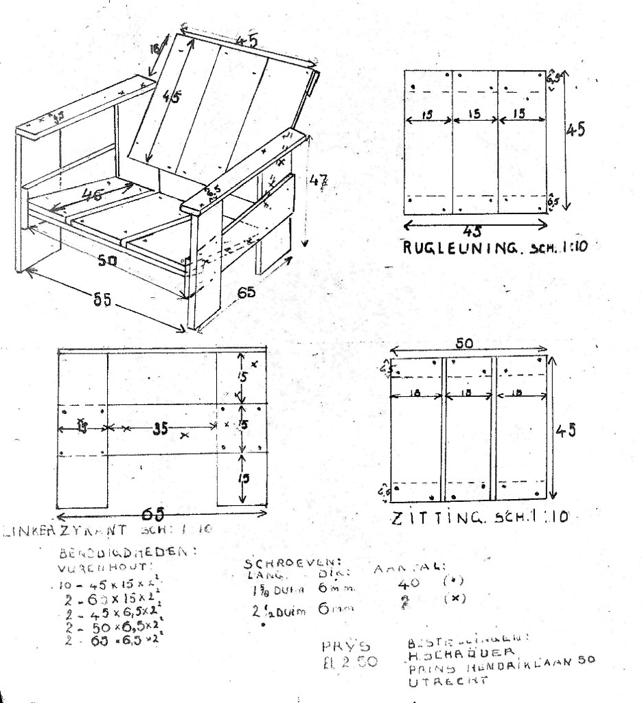 ... Crate Chair Plans Gerrit rietveld crate chair plans plus iso