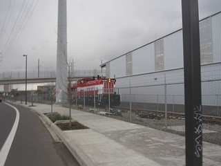 An EPT passenger train at the ORHF shops