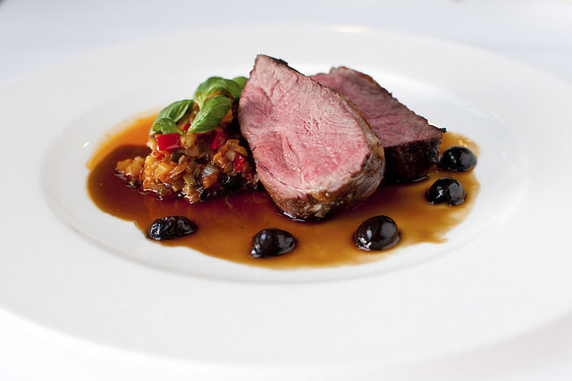 Lamb with Provençale vegetables and olives © ROH Restaurants
