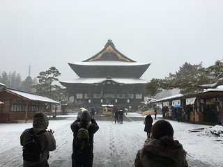 Zenkoji in the snow