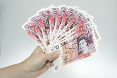 Fan of £50 notes