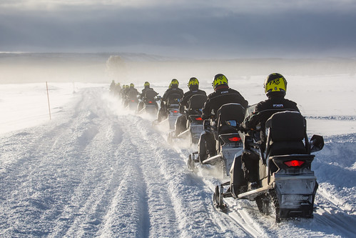 Snowmobile tour at Swan Lake | by YellowstoneNPS
