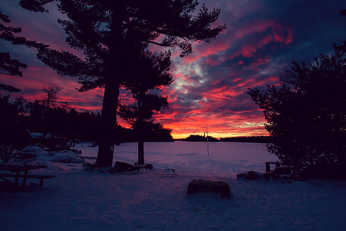 winter sunset poconos blizzard lakenaomi poconomountains poconomtns takeonpocono blizzard2016