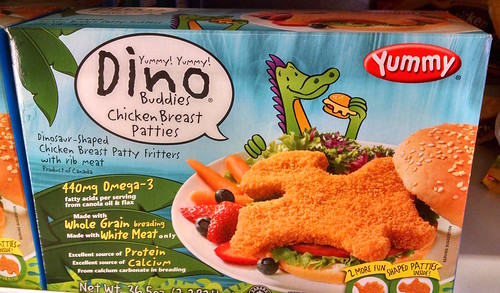 Dinosaur-Shaped Chicken Patties