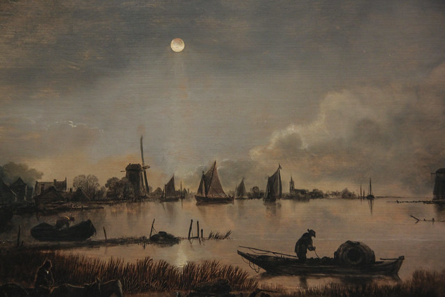 River View by Moonlight, Aert van der Neer, c.1640-50