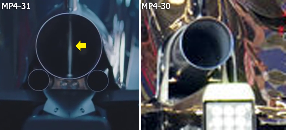 mp4-31-exhaust