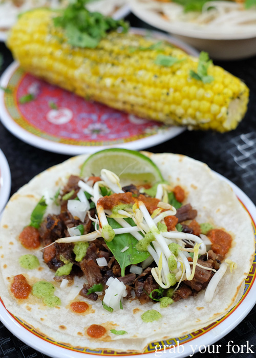Beef taco at Ghostboy Cantina in Dixon House Food Court, Sydney