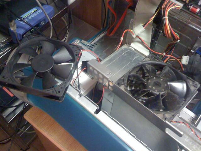Replacing the fan