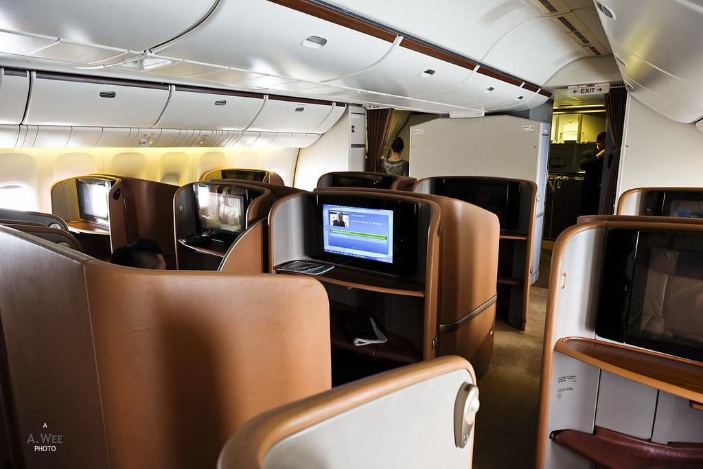 Boeing 777-300 First Class cabin