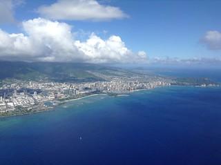 Waikiki and Honolulu from the air