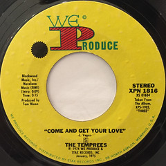 THE TEMPREES:COME AND GET YOUR LOVE(LABEL SIDE-A)
