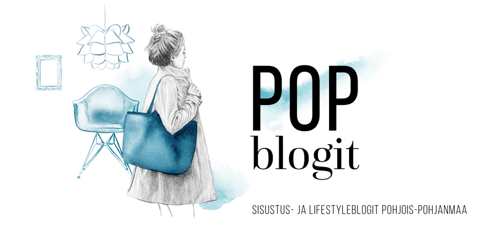 POP Blogit header design and illustration by Jutta Rikola