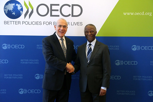 OECD Secretary-General Angel Gurría and Thabo Mbeki