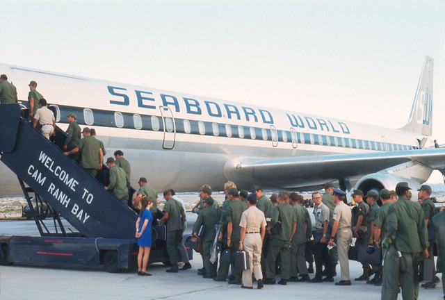Vietnam 1969 - Photo by Bernie - Heading home from Cam Ranh Bay AB