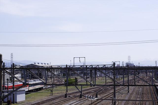 It's warm spring today. 13℃ in Sakata, Yamagata.