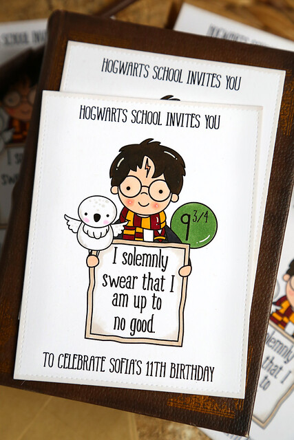 harry potter party invites