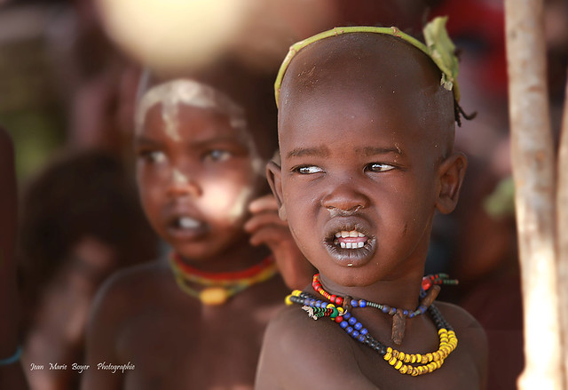 Omo Valley dans un village.