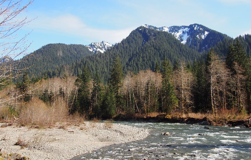 Mountains Over South Fork Stillaguamish River