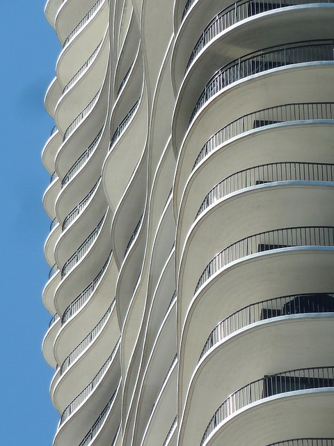 Chicago, Aqua Tower, Balcony Abstract (Architect: Jeanne Gang)