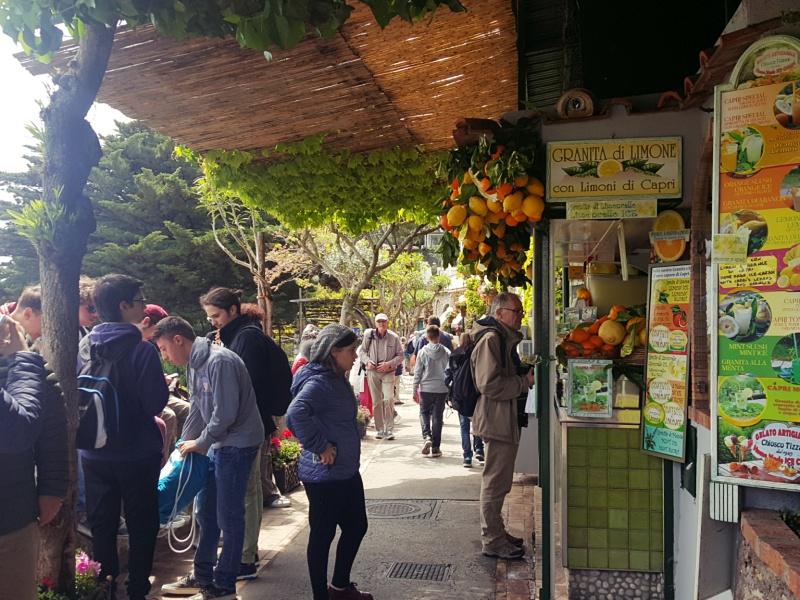 Lemon Granita Stand Capri