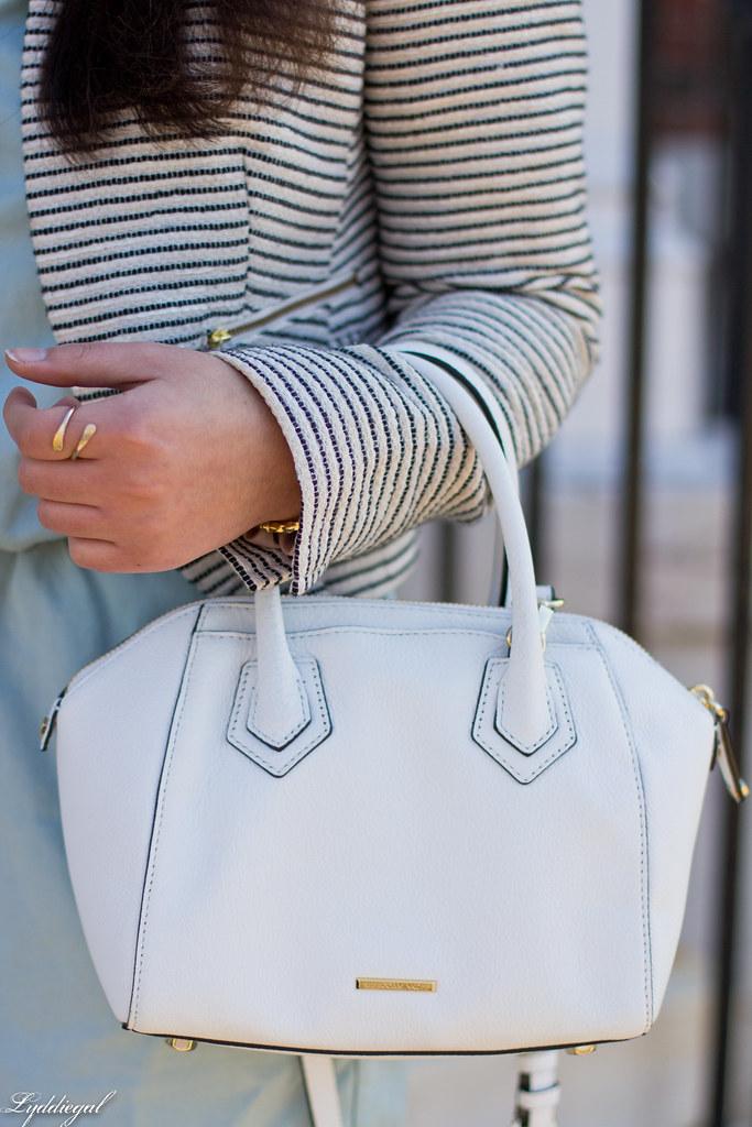 mint romper, striped blazer, lace up flats, white bag-2.jpg