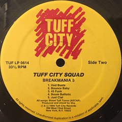 TUFF CITY SQUAD:BREAKMANIA 5(LABEL SIDE-B)