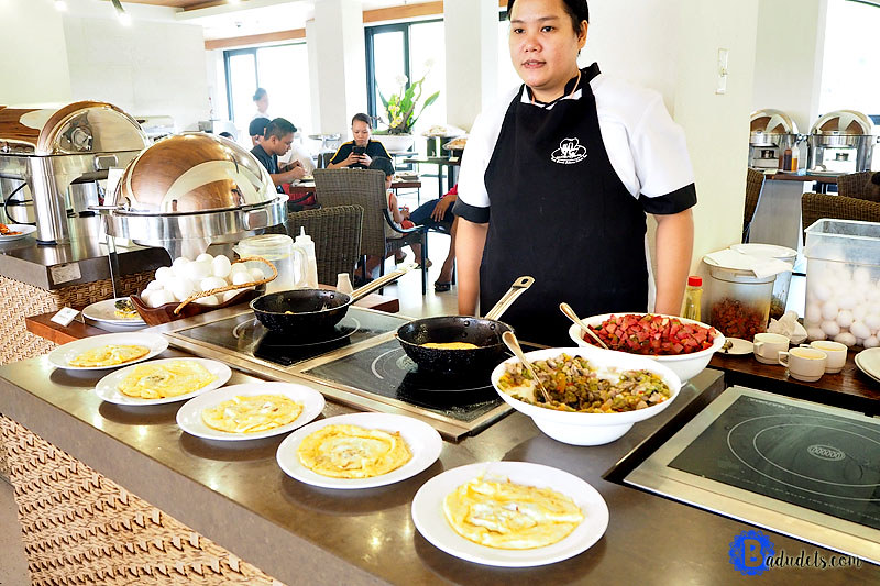 breakfast buffet at fairways and bluewater boracay