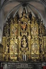 Arenys de Mar. Parish Church. Altarpiece dedicated to the Assumption of the Virgin Mary. 1706-1712. Pau Costa, sculptor