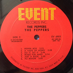 THE PEPPERS:THE PEPPERS(LABEL SIDE-B)