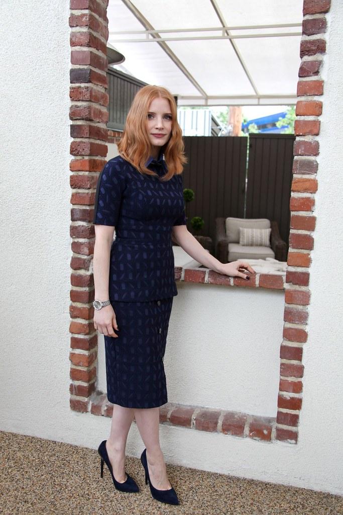 Джессика Честейн — Пресс-конференция «Белоснежка и Охотник 2» 2016 – 4