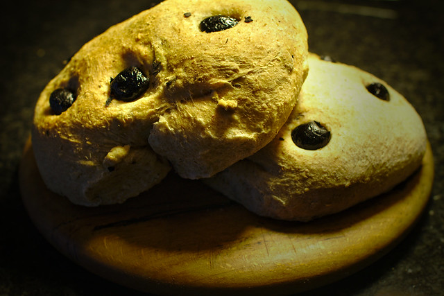 Olive and Pumpkin Seed Loaves