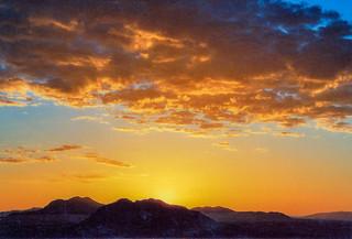 Sonnenuntergang im Namib Naukluft Park